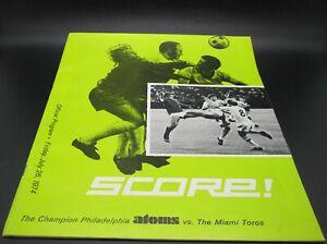 1974 NASL North American Soccer Philadelphia Atoms Vs. Miami Toros Program