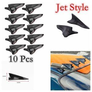 10 Pcs PP 1.6% Universal Vortex Generator Shark Fin Spoiler Diffuser Jet Style