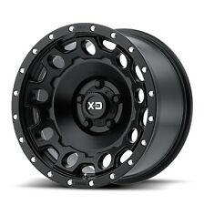 17 Inch Wheels Rims Black LIFTED Jeep Wrangler JK XD Series XD129 5x5 SET FIVE 5
