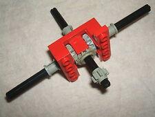 LEGO Technic ROSSO SPLIT T scatola ingranaggi/motore + ingranaggi/Cogs & BLACK assi