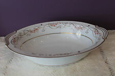 "NORITAKE CHINA JAPAN 10-5/8"" OVAL VEGETABLE SERVING BOWL CALVERT 5778"