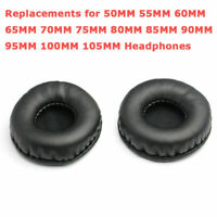Replacement Ear-Pads Memory Foam Cushion Earmuffs Protein Leather For Headphones