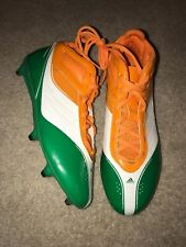 ADIDAS 2012 TEAM ISSUED NOTRE DAME FOOTBALL IRELAND CLEATS SIZE 13 AWESOME!!