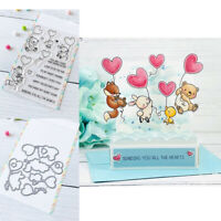Up with Love Clear Stamps with Metal Cutting Dies for Diy Scrapbooking Cards