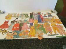 LOT OF 43  PIECES  Vintage Paper Dolls  Clothing Accessories  and figures
