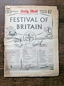 1951 Festival Britain Mail Supplement 80 Pages Maps Dome London Music Fashion
