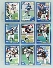 New York Giants Football Cards Lot of 9 Topps 2000 Gold