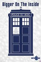 DOCTOR WHO ~ TARDIS BIGGER ON THE INSIDE 24x36 POSTER DR TV Police Box New