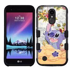 for LG K20 Plus/LG V5 Impact Armor Rugged Hybrid Case Disney Lilo & Stitch #D