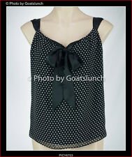 Anthea Crawford Pussy Bow Polka Dot Top Size 10 New Without Tags