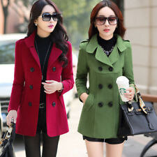 New Korean fashion women's section double breasted Slim woolen jacket coat