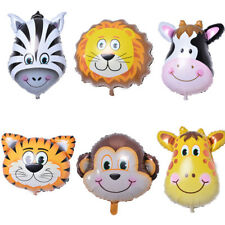 6pcs/lot Zoo Lovely Animal Head Balloons Helium Inflatable Kids Birthday Decor
