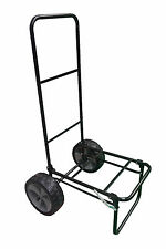 """FOLDING FISHING SEAT BOX TROLLEY with 10"""" PUNCTURE PROOF WHEELS and STRAP carp"""