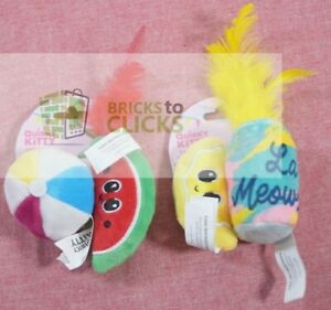 Quirky- Catnip Kitty Pool Party & Sparkling Water Cat Toy Lot x2