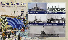 Marshall Islands 2018 MNH WWI WW1 Razzle Dazzle Ships 5v M/S II Military Stamps