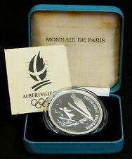 BE 100 Francs JO Saut à Ski en argent. 1991 + certificat