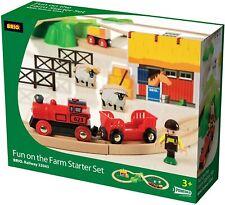 Brio 33043 Fun in the Farm Starter Set Bahn Bauernhof 30 Teile