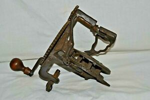 Antique Reading Hardware Co. Cast Iron Apple Peeler May 5,1868 Harbster Bros.