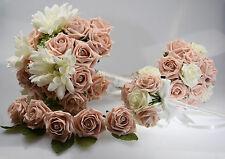 CHECK DESC Gerbera Wedding Bouquet Bundle - Bride, Bridesmaid