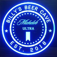 Michelob Ultra Beer LED Sign Personalized, Home bar pub Sign, Lighted Sign