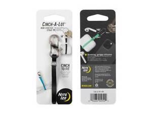 Nite Ize Cinch-A-Lot Black Adjustable/Durable Stretch Strap S-Biner MicroLock