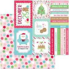 """Doodlebug - Milk & Cookies - CHRISTMAS PARTY - 12x12"""" d/sided scrapbooking paper"""