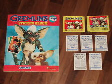 Gremlins Complete 1984 Panini Sticker Album, all loose stickers with a twist...