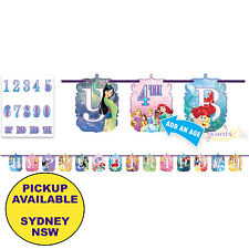 DISNEY PRINCESS BIRTHDAY PARTY SUPPLIES JUMBO LETTER BANNER DECORATIONS