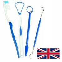 Teeth Scraper Cleaner ORAL CARE KIT Brush Tooth Cleaning Plaque Remover-UK