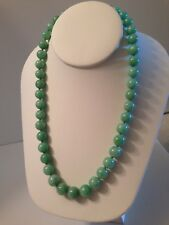 GIA CERTIFIED NATURAL JADE BEAD NECKLACE - 43 BEADS - SIZE  9 mm  to 8 mm