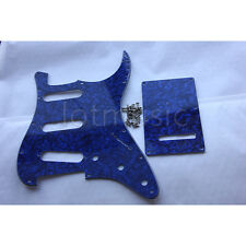 Guitar Pickguard Back Plate Tremolo Cover for Strat Parts Blue Pearl SSS 3Ply
