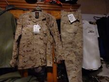 USMC MARPAT Uniform DESERT Combat Shirt & Pants size MEDIUM X LONG NEW W/ TAG