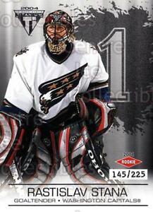 2003-04 Titanium Retail Jersey Number Parallels #140 Rastislav Stana