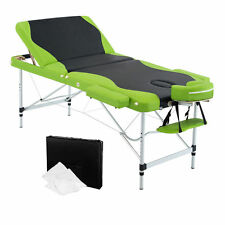 Aluminium Portable Massage Table 3 Fold Beauty Therapy Bed Chair Waxing 75cm