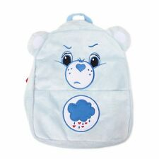 "New Care Bears Grumpy Bear Blue Plush School Backpack 12"" Small Bag with Ear"