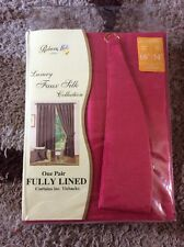 Rebecca Mills Designer Collection One Pair Fully Lined Curtains Fuchsia