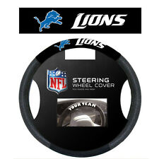 NFL POLY-SUEDE MESH STEERING WHEEL COVER DETROIT LIONS