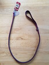 Dog Lead/Leash, Faux Patent Leather in Damson 40 in long by 1/2 in wide - New