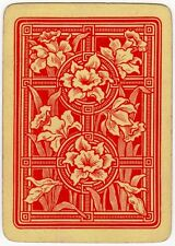 Playing Cards 1 Single Swap Card - Antique Wide Non Reversible DAFFODILS FLOWERS
