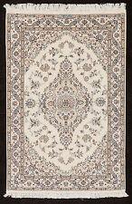 TAPPETO PERSIANO NAEIN HABIBIAN LANA E SETA ANNODATO A MANO cm. 144 x 95