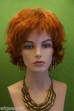 Fire Red (Vivid Orange Red) Red Short Wavy Wigs
