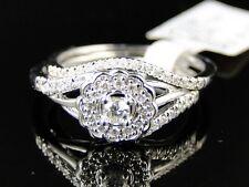 WHITE GOLD LADIES ROUND CUT DIAMOND ENGAGEMENT WEDDING BRIDAL RING SET 1/4 CT