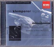 Otto KLEMPERER: Kurt WEILL Dreigroschenmusik HINDEMITH STRAVINSKY CD Merry Waltz