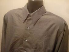 Etienne Aigner Men's Dress Shirt Button Up 16.5 32/33 Gray Perfect Cond
