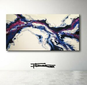 Resin Painting  Canvas Wall Art Large Framed signed US ELOISExxx