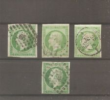 LOT TIMBRE FRANCE FRANKREICH 1854 4X N°12 OBLITERE USED