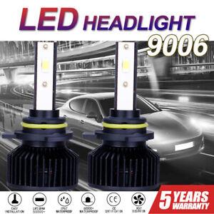 2x 9006 HB4 Low Beam 8000LM LED Headlight Bulb Kit 6000K Super White Chips Light