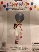 "Giant Clear Latex Balloon, 40"""