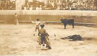 RPPC BULL FIGHT IN PROGRESS IN THE RING - ca 1910-1930 Antique POSTCARD