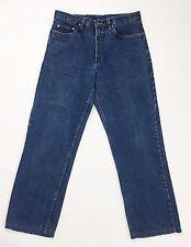 Boston sports jeans W33 tg 46 48 uomo dritti boyfriend slim usato blu T1041